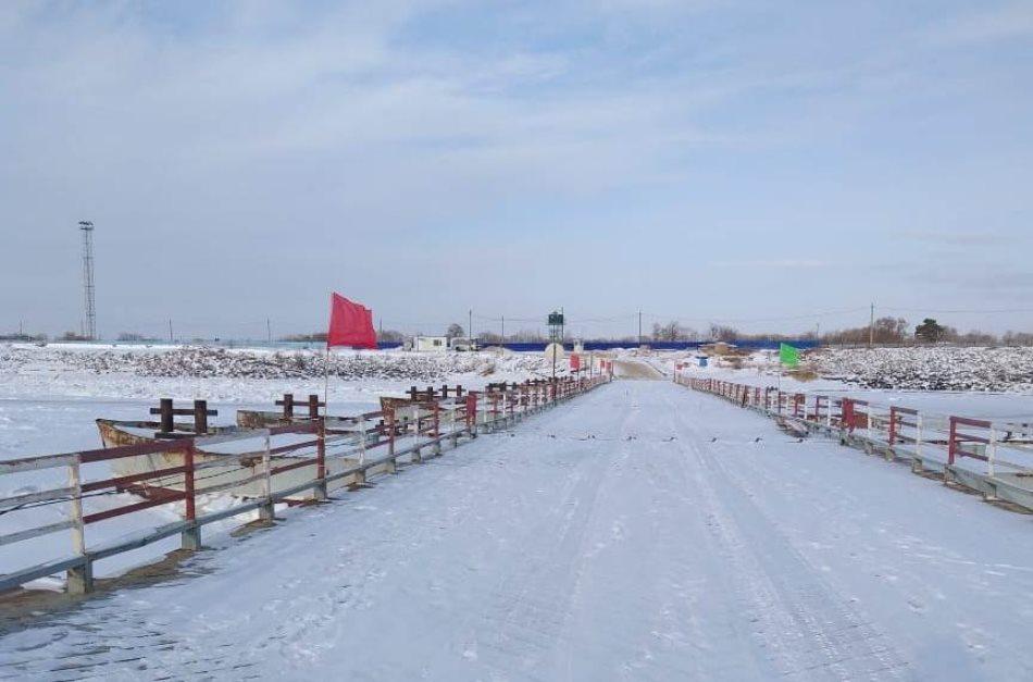 В Нижнеленинском открыли ледовую переправу между Еврейской автономной областью и Китаем