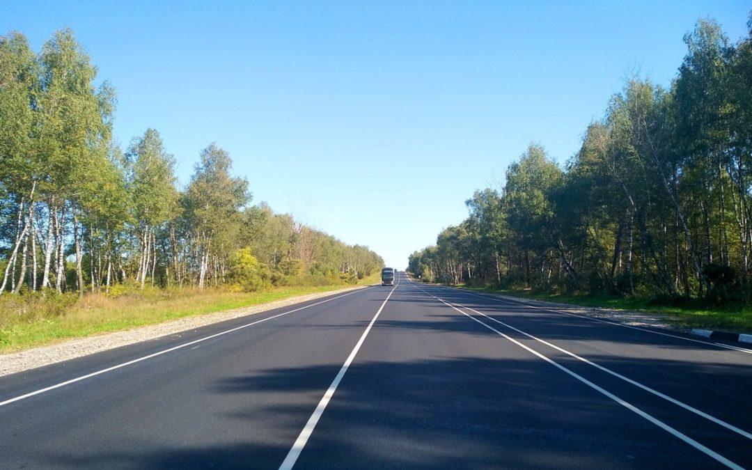 В Рязанской области отремонтировали больше 40 км федеральной трассы М-5 «Урал»