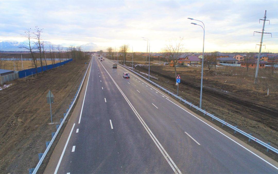 На границе Северной Осетии и Ингушетии до четырех полос расширили участок трассы Р-217 «Кавказ»