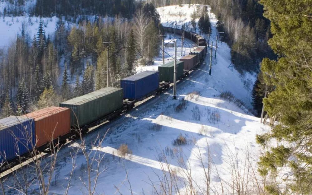 Первый экспортный поезд с использованием ЭТП «Грузовые перевозки»